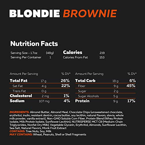 KetoBrownie Blondie Brownies, 12 Count