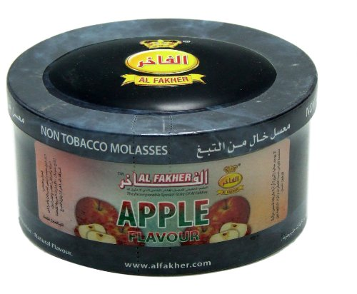 Al Fakher Herbal Shisha Apple Hookah Shisha Molasses Al Fakher 200gr Jar