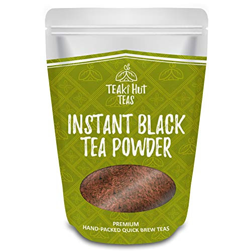 TEAki Hut Instant Black Tea Powder 4oz (192 Servings), 100% Pure Tea, No Fillers, Additives or Artificial Ingredients of Any Kind
