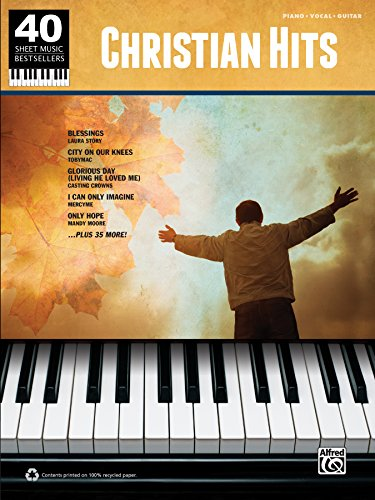 40 Sheet Music Bestsellers - Christian Hits: Piano/Vocal/Guitar Sheet Music Songbook ()