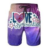 Love Star Gymnastics Men's Summer Swim Board ShortsL