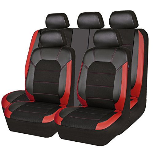 red and black seat covers - 6