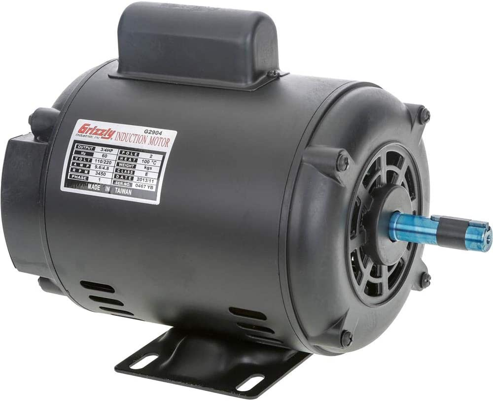 Grizzly Industrial G2904 - Motor 3/4 HP Single-Phase 3450 RPM Open 110V/220V