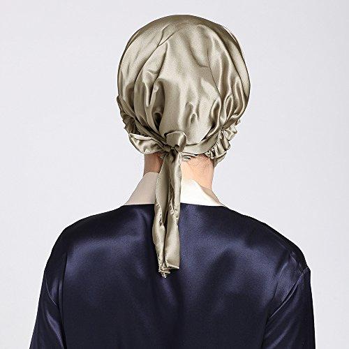 Cappello Taupe I Da Seta Nastri Con Lilysilk Di Notte 4zqfxB4d8