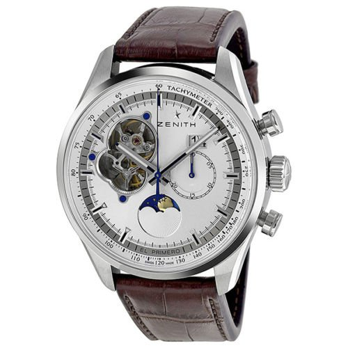(Zenith Chronomaster Open Grande Date Moonphase Mens Automatic Watch 03.2160.4047/01.C713)