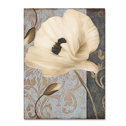 (Poppy Brocade II by Color Bakery, 18x24-Inch Canvas Wall Art)