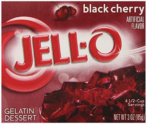 Jell-O Gelatin Dessert, Black Cherry, 3-Ounce Boxes (Pack of 6)