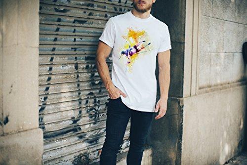 Stabhochsprung I Herren T-Shirt Sport Motiv aus Paul Sinus Aquarell