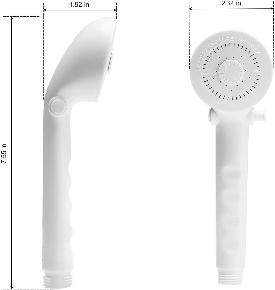 Motorhomes,Travel Trailers,Campers Fifth Wheels White OYMOV RV Showerhead with Hose Kit Outdoor Handheld On-Off Switch Shower Head Replacement Holder Bath Parts for RVs