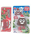 M&M Christmas Green & Red 3.1 oz box and Oh Poop! Holiday Pooper Stocking Stuffer