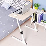 DlandHome Adjustable 31.5 Laptop Bed Table,Portable Standing Desk,Foldable Sofa Breakfast Tray, Maple