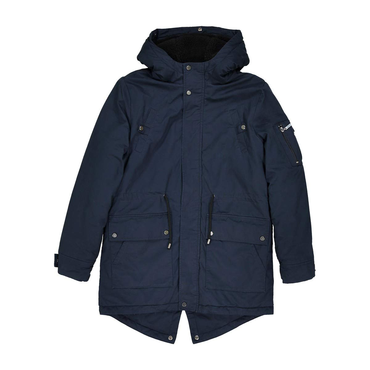 La Redoute Collections Big Boys Warm Parka, 10-16 Years Blue Size 16 Years - 68 in.