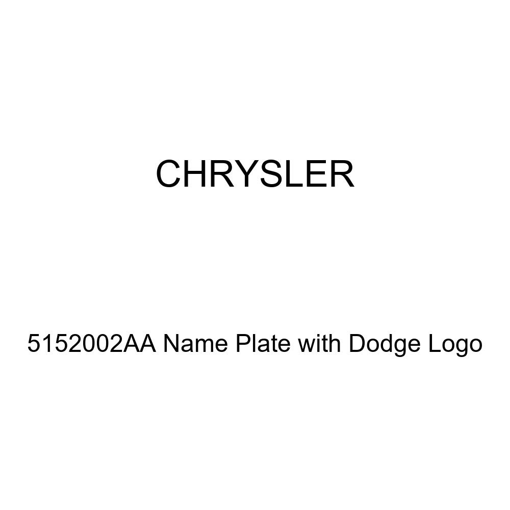 Chrysler Genuine 5152002AA Name Plate with Dodge Logo