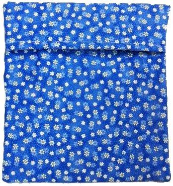 Microwave Potato Bag - Blue With Flowers by MicrowavePotatoBags.com (Image #1)