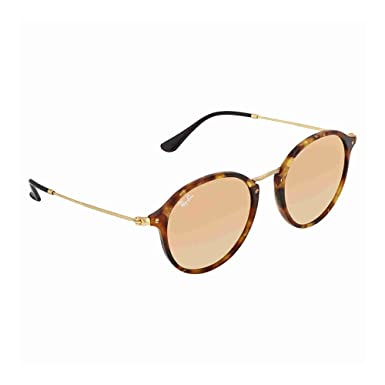 Ray-Ban Round Fleck Large Spotted Brown Havana Cuivre Miroité ... 208e234bc014