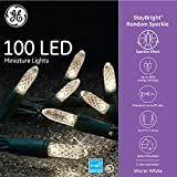 GE 100 LED StayBright Random Sparkle Miniature White Light String