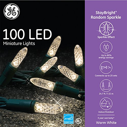 GE 100 LED StayBright Random Sparkle Miniature White Light S