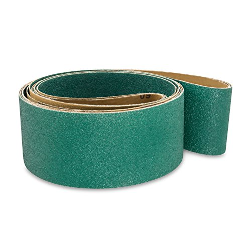 3 X 79 Inch 24 Grit Metal Grinding Zirconia Sanding Belts, 4 Pack by Red Label Abrasives