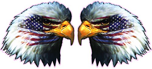 American Flag Eagle Head Pair 8