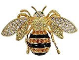 Rucinni Honey Bee Brooch with SWAROVSKI Crystals