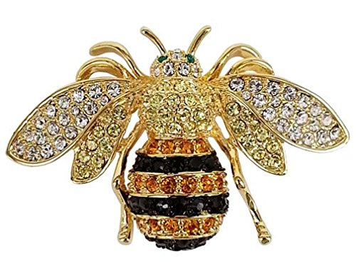Rucinni Honey Bee Brooch with SWAROVSKI Crystals by Rucinni