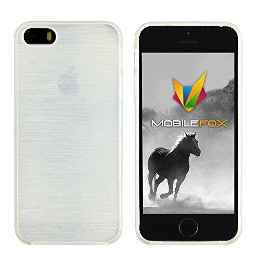 Mobilefox Paul Schutzhülle Soft Case Apple iPhone 5/5S/SE Weiß