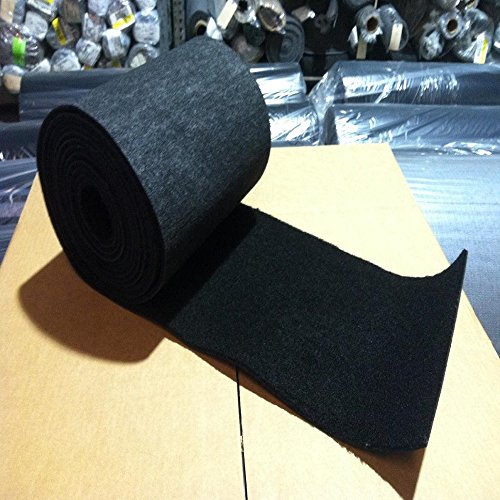 Black Bunk Carpet - 18 inches wide - Marine Outdoor Runners (100 feet)