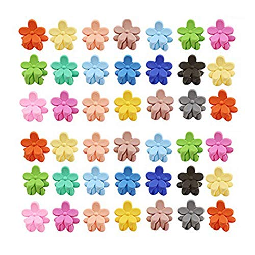- 30 PCS mini hair claw clips for girls,Cute Flower Hair Pin For Little Girls Kids Accessories For Children