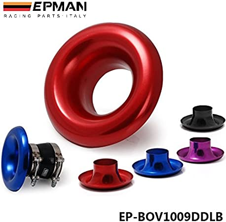 Red EPMAN 3 Short RAM//Cold Air Compressor//Intake Inlet Velocity Stack//Turbo Horn Kit