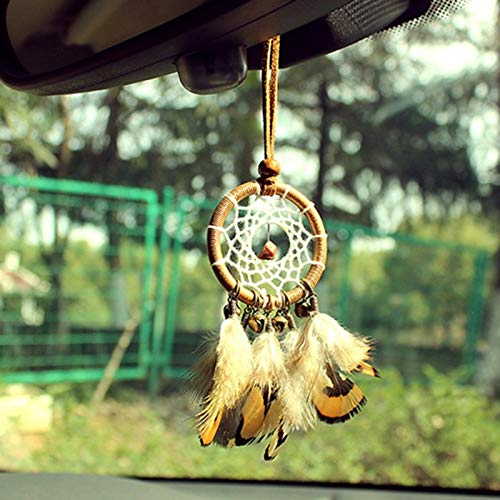 Decorative Decorative - Bronze Bell Feather Amp Wind Chime Car Pendant Decor Wall Hanging Catcher Decoration - Lead Alexander Graham Instrument Steer Hoist Doorbell Wrap Campana - 1PCs
