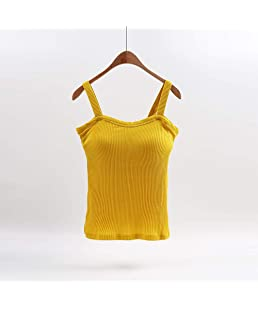 Lady's Vest with Cotton Strap and Bra, Integrated Bra and Clothing Design, Three Kinds of Fashion Styles