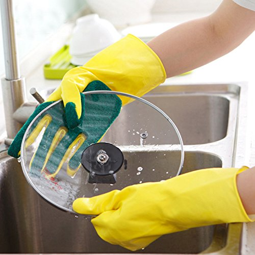 HITSAN INCORPORATION Honana Creative Home Washing Cleaning Gloves Cooking Glove Garden Kitchen Sponge Fingers Rubber from HITSAN INCORPORATION