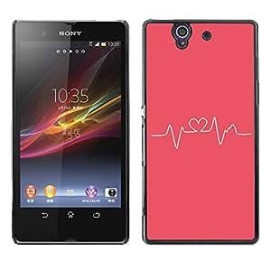 Pulso Heartbeat Pink Love Doctor en Medicina - Metal de aluminio y de plástico duro Caja del teléfono - Negro - Sony Xperia Z L36H