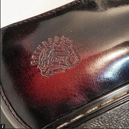 Grinders Uomini Percival occhio 3 2015 Scarpe Derby Gibson pizzo Borgogna