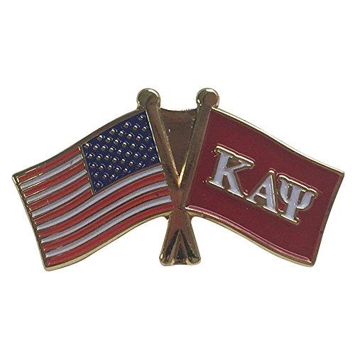 Kappa Alpha Psi Flag and USA Flag Lapel Pin