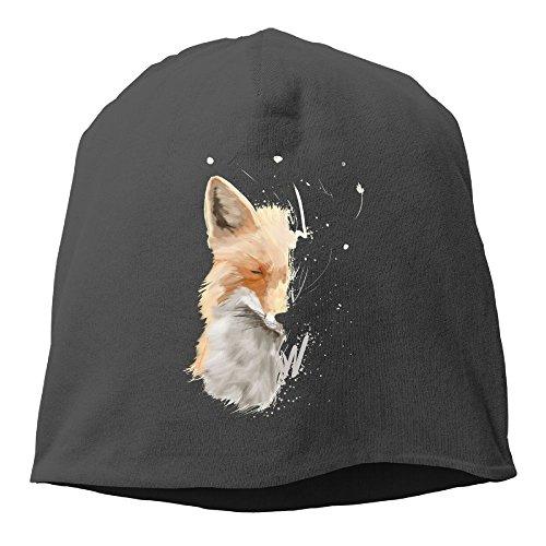 YUYU Mens Fox Hoodie Fashion Hip-Hop Black Beanies Skull Hat ()