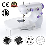 Mini Portable Sewing Machine Double Speed Control Double Thread Needle Electric Household Automatic