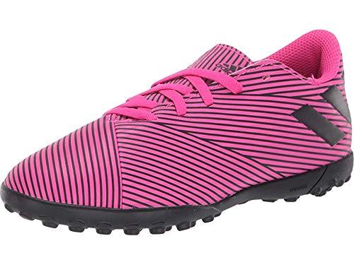 adidas Unisex Nemeziz 19.4 Turf Soccer Shoe, Black/Shock Pink, 4 M US Big Kid
