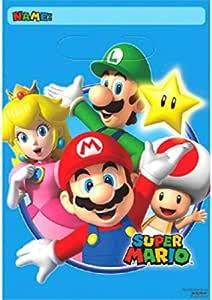 Super Mario 8 STK – Bolsa de Fiesta – Regalo Bolsas de plástico – Loot Bags: Amazon.es: Juguetes y juegos