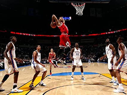 cf839c9b43d Image Unavailable. Image not available for. Color  SD5207 Derrick Rose Slam  Dunk Chicago Bulls NBA 24x18 Print POSTER