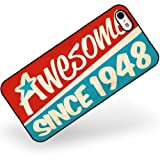 Rubber Case for iphone 5 5s Awesome since 1948, Birthday/Year - Neonblond