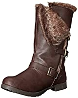 Qupid Women's Wyatte 54 Winter Boot, Brown, 6.5 M US