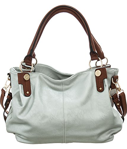 Silver Laurel&Sunset ''Kontrast'' Crossbody Convt. Large Hobo Bags