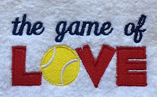 Tennis Hand Towel ''The Game of Love''
