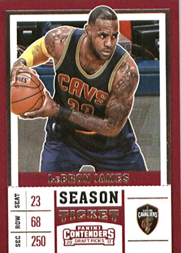 - 2017-18 Panini Contenders Drafts Picks Season Ticket #36 LeBron James Blue Jersey Cleveland Cavalier