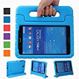 NEWSTYLE Samsung Galaxy Tab 4 8.0 Shockproof Case Light Weight Kids Case Super Protection Cover Handle Stand Case for Kids Children For Samsung Galaxy Tab 4 8-inch SM-T330 SM-T331 SM-T335 - Blue Color