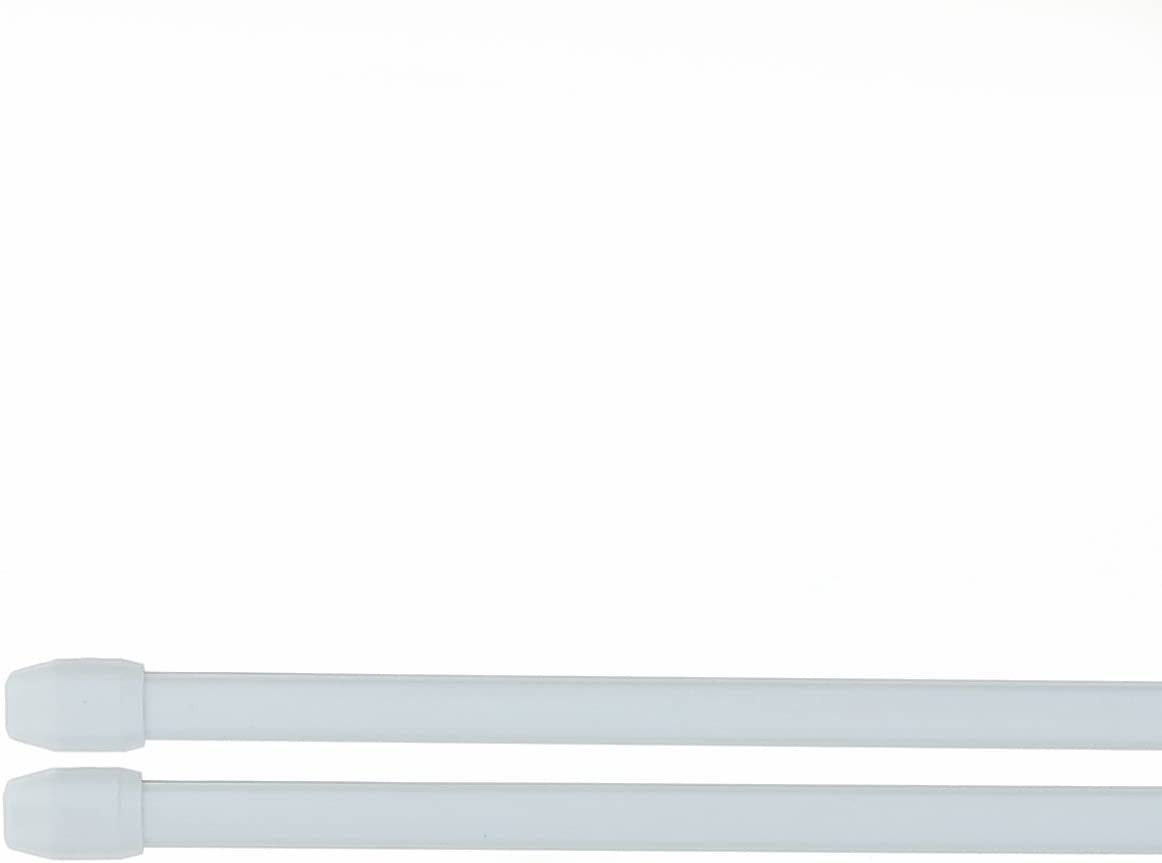 Tringles /à Rideaux Extensibles de 30 /à 45 cm Blister de 2 tringles Couleur Gris Aluminium Crochets Inclus Qualit/é sup/érieure
