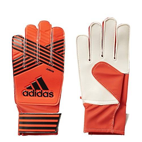 (adidas Performance ACE Junior Goalie Gloves, Solar Red/Core Black/Onix/Scarlet, Size 7)