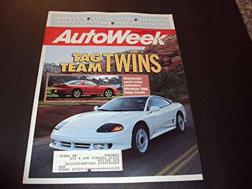 Auto Week Aug 6 1990 Sports Coupes Mitsubishi 3000 Dodge Stealth