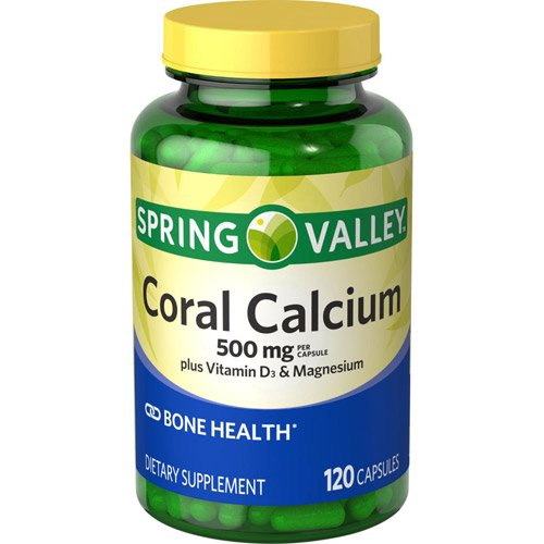 Amazon.com: Spring Valley Coral Calcium, 500 Mg Plus Vitamin D3 Magnesium, 120 Capsules: Health & Personal Care